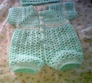 Newborn Boy Romper Crochet Free Pattern Cer